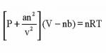محاسبه حجم مولی فازها با معادله حالت واندروالس و ردلیش کوانگ